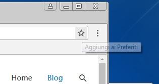 Come aggiungere un sito alla barra dei preferiti di Google Chrome pulsante preferiti