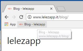 Come aggiungere un sito alla barra dei preferiti di Google Chrome pulsante sito