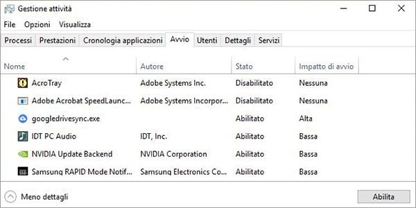 Come bloccare l'avvio automatico dei programmi in Windows 10