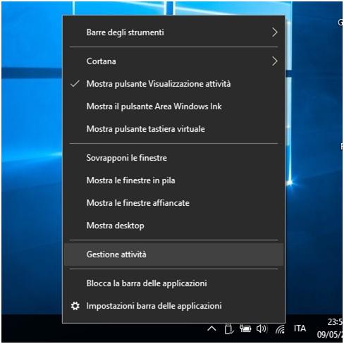 Come bloccare l avvio automatico dei programmi in Windows 10 gestione attività