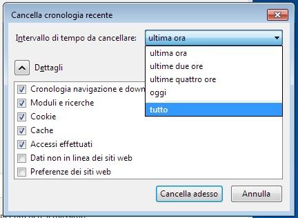 Come cancellare cronologia e dati di navigazione da Firefox