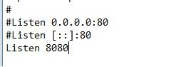 Come correggere errore Port 80 in used by system di XAMPP in Windows 10 listen 8080