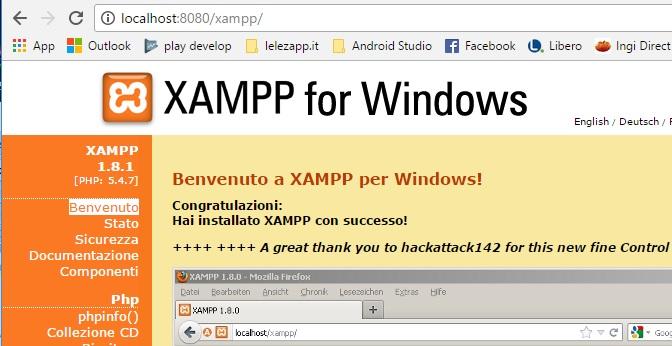 Come correggere errore Port 80 in used by system di XAMPP in Windows 10 localhost:8080