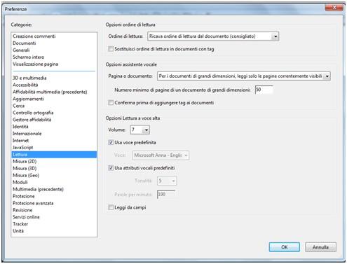 Come disabilitare Avanzamento Preparazione Contenuto in Adobe Reader lettura