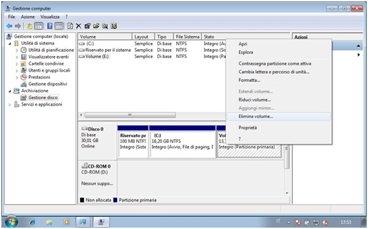 Come eliminare partizioni da Hard Disk con Gestore Computer in Windows 5