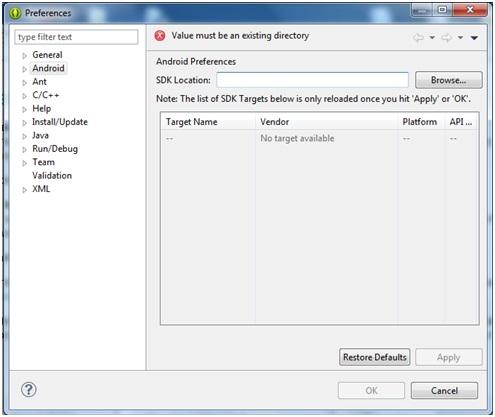 Come installare ide Eclipse e SDK Android per la programmazione Java 12