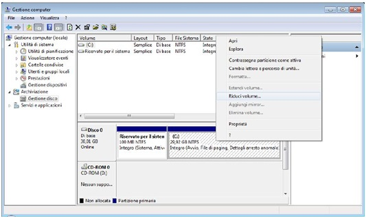Come partizionare Hard Disk con Gestore Computer in Windows 5