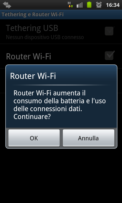 Utilizzare un dispositivo Android come Router WiFi 11