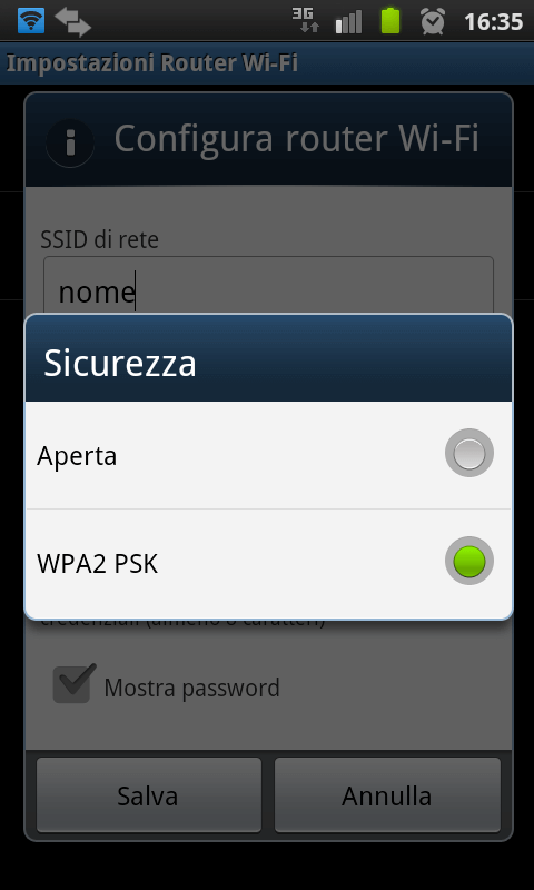 Utilizzare un dispositivo Android come Router WiFi 16