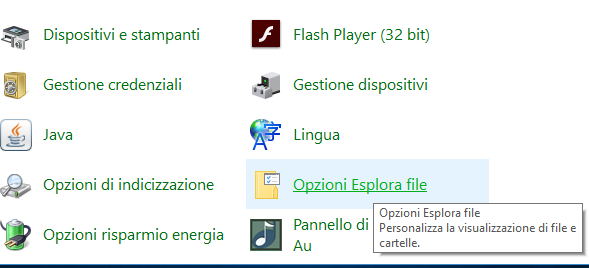 Come visualizzare cartelle e file nascosti in Windows 10 pannello di controllo