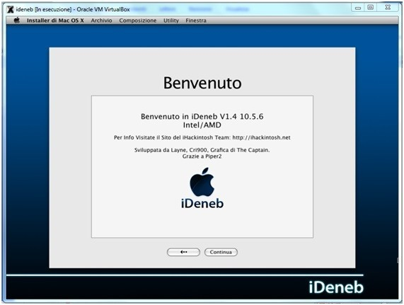 17 Come installare Mac OSX in Virtualbox