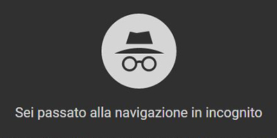 Come navigare in incognito con Google Chrome