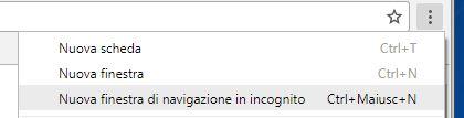 Come navigare in incognito con Google Chrome