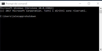 Spegnere il PC tramite comandi batch in Windows