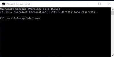 Spegnere il PC tramite comandi batch in Windows