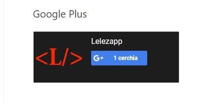 Come aggiungere il Badge di Google Plus in un sito web visualizzazine
