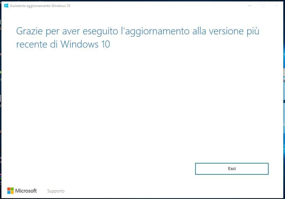 Come installare manualmente Windows 10 April 2018 Update esci