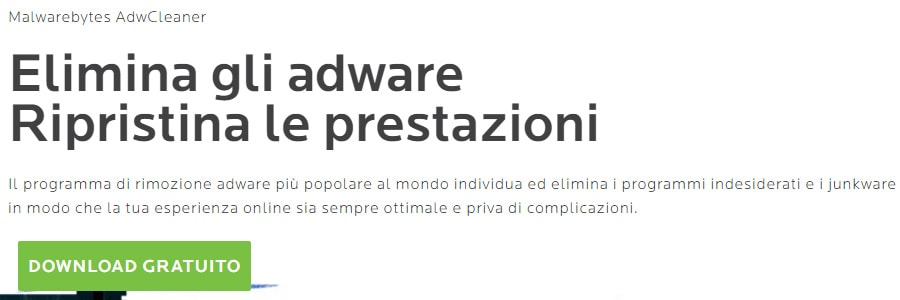 Come rimuovere programmi potenzialmente indesiderati PUPs e Adware da Windows download