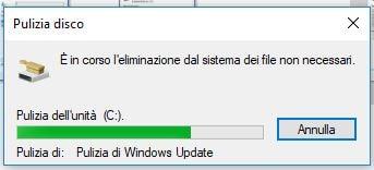 Come liberare spazio in Windows 10 con Pulizia Disco eliminazine