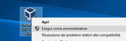 Correggere errore NtCreateFile 0xc000000034 STATUS_OBJECT_NAME_NOT_FOUND in VirtualBox amministratore