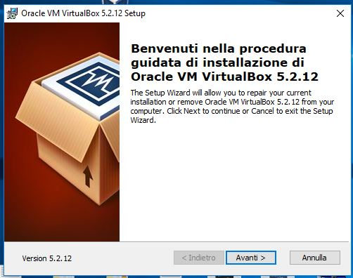 Correggere errore NtCreateFile 0xc000000034 STATUS_OBJECT_NAME_NOT_FOUND in VirtualBox benvenuto