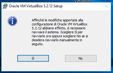 Correggere errore NtCreateFile 0xc000000034 STATUS_OBJECT_NAME_NOT_FOUND in VirtualBox riavvia