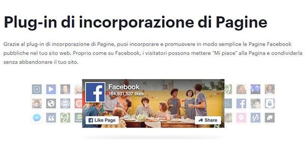 Creare il box della pagina Facebook da aggiungere al sito