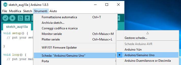 Aggiornare bootloader ATmega328P Nano con Arduino Uno e connettore ISP scheda programmer