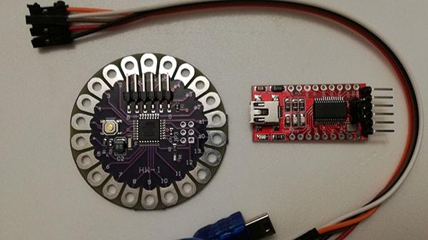 Programmare Arduino LilyPad con convertitore FTDI FT232RL materiale occorrente