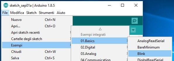 Programmare Arduino LilyPad con convertitore FTDI FT232RL seleziona blink