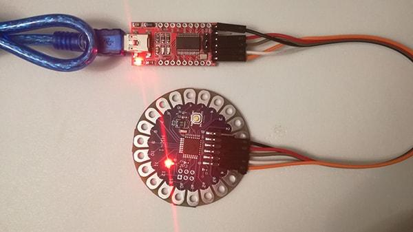 Programmare Arduino LilyPad con convertitore FTDI FT232RL led lampeggiante
