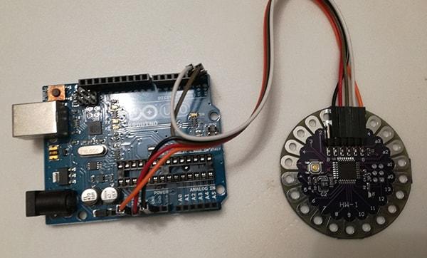 Programmare Arduino LilyPad senza convertitore FTDI immagine circuito