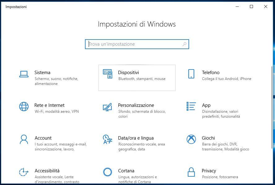 Scroll con rotella del mouse non funzionante in Windows 10 dispositivi