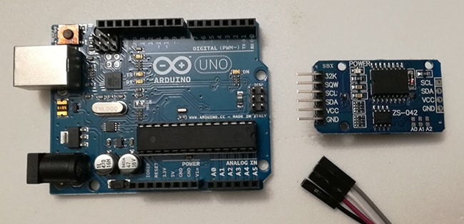 Modulo DS3231 Real Time Clock con Arduino Uno materiale occorrente