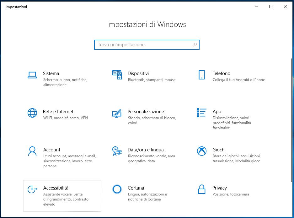 Associare il pulsante Stamp a Cattura e note in Windows 10 accessibilità