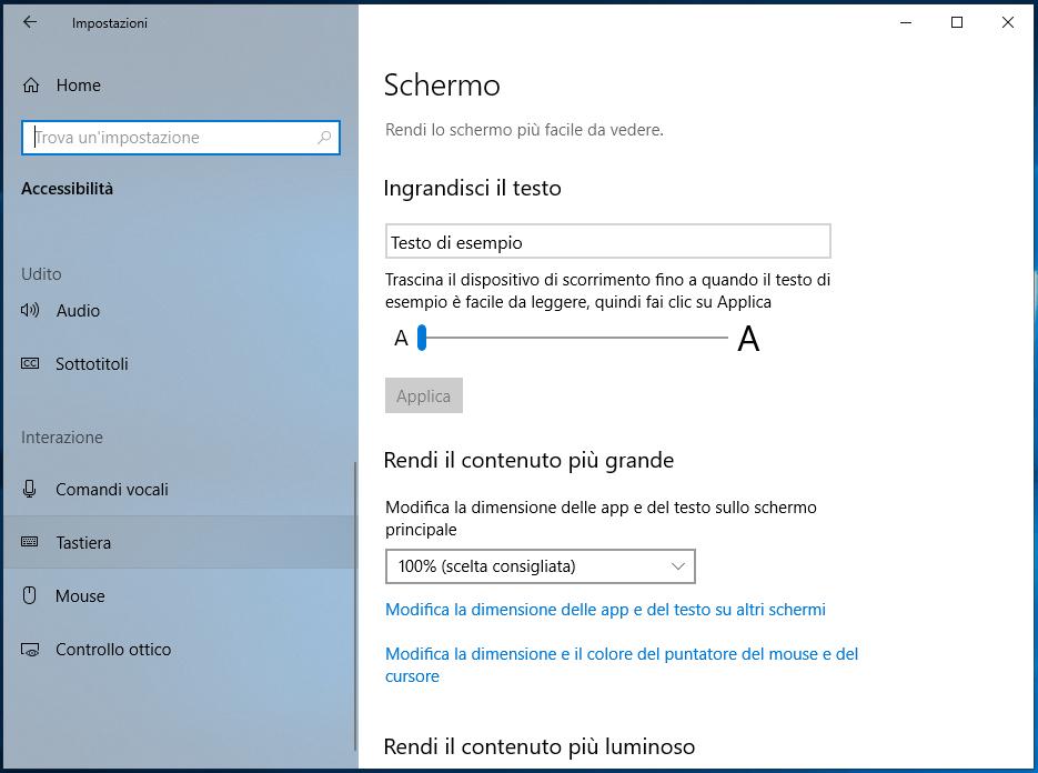 Associare il pulsante Stamp a Cattura e note in Windows 10 tastiera