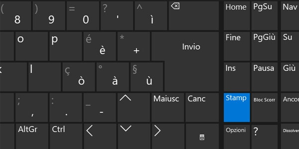 Associare il pulsante Stamp a Cattura e note in Windows 10
