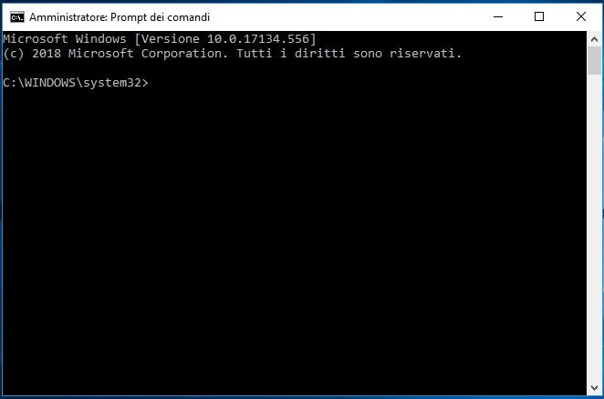 Ripristinare tasto F8 per avviare modalità provvisoria in Windows 10 prompt dei comandi