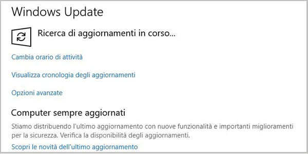 Forzare l'aggiornamento a Windows 10 October Update 1809