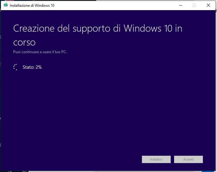Come creare una chiavetta USB per installare Windows 10 creazione supporto