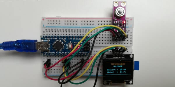 Termoscanner con sensore MLX90614 display SSD1306 e Arduino