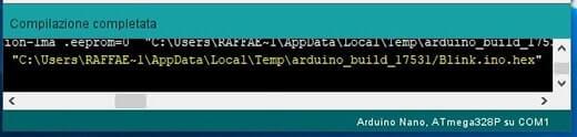Generare il bootloader in formato hex per Arduino output compilazione