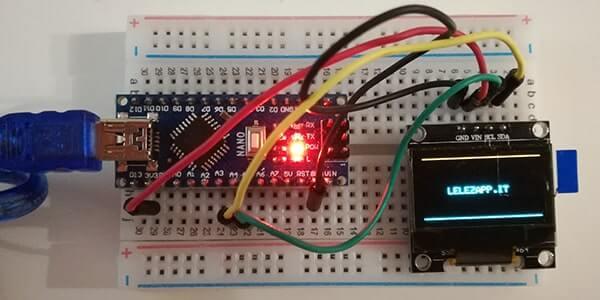 Utilizzare un display I2C LCD SSD1306 con Arduino