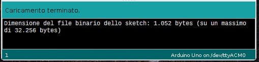 Come programmare Arduino da Raspberry PI conferma carica sketch