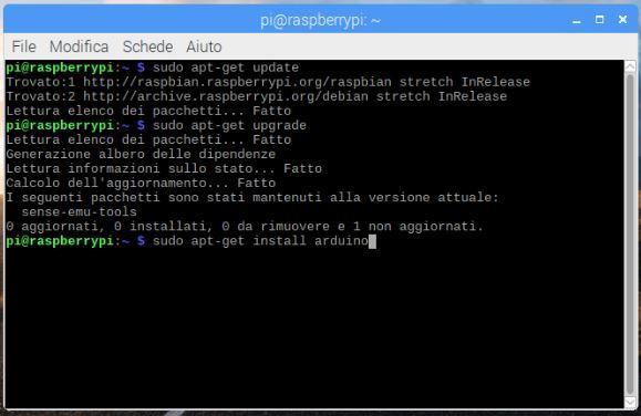 Come programmare Arduino da Raspberry PI install arduino