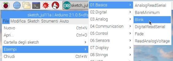 Come programmare Arduino da Raspberry PI blink