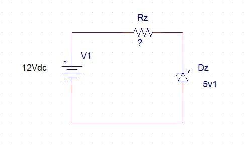 Come stabilizzare una tensione con il Diodo Zener schema elettronico