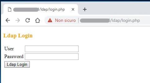 Autenticazione ldap con script PHP form HTML