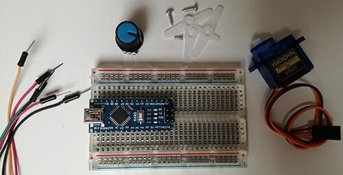 Pilotare un Micro Servo SG90 con Arduino materiale occorrente