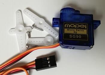 Pilotare un Micro Servo SG90 con Arduino dettaglio microservo